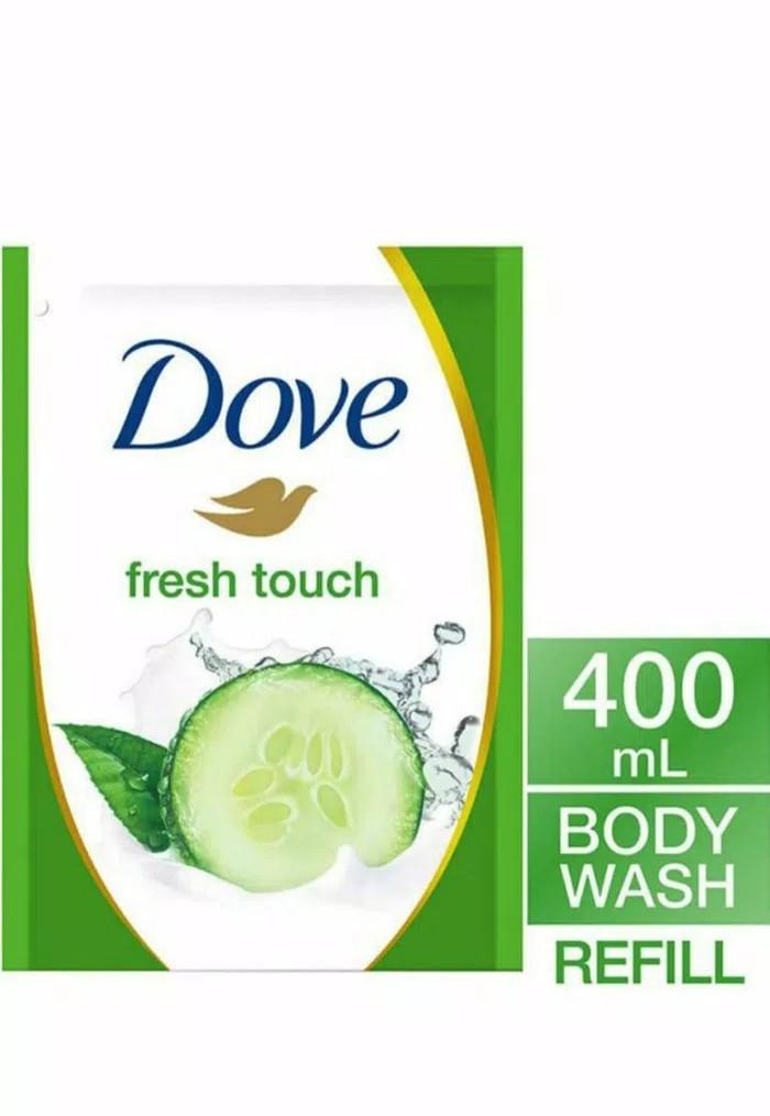 harga Dove go fresh body wash bodywash cucumber 400 ml sabun cair refil Tokopedia.com