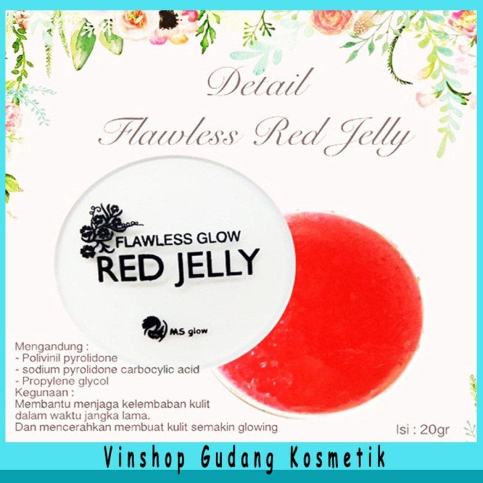 CREAM RED JELLY BPOM - FLAWLESS GLOW RED JELLY BY