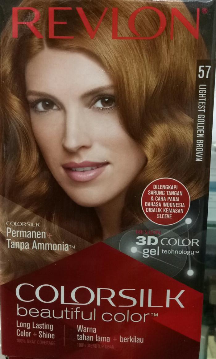 Cat Rambut Revlon Colorsilk Beauty Color No.57 Lightest Golden Brown
