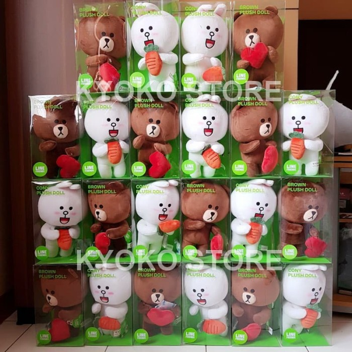 ... harga Boneka line brown   cony plush doll original 25cm Tokopedia.com 2f823c5c1d