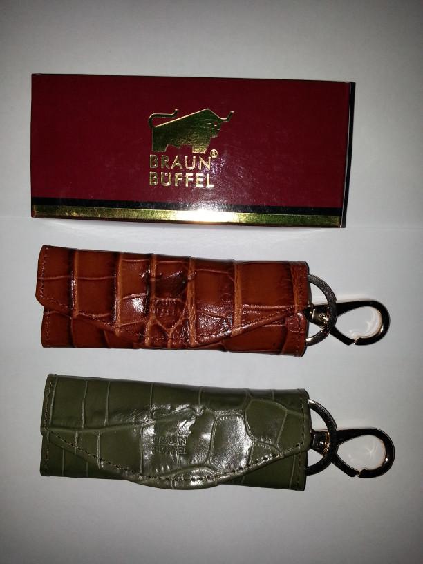 Dompet kulit asli braun buffel stnk mobil/motor gantungan kunci/ganci