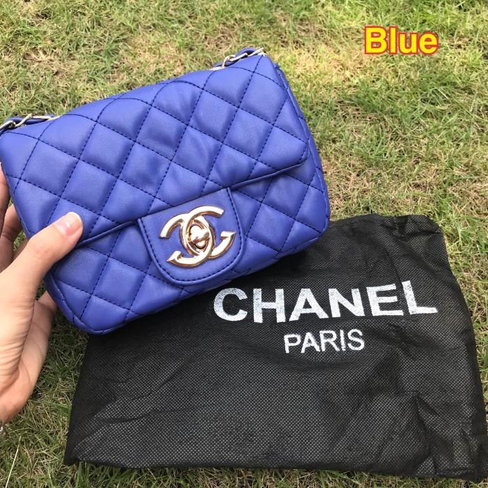 Foto Produk supplier tas wanita branded murah import fashion CHAN*EL CLASSIC BABY - Biru dari sopaybags