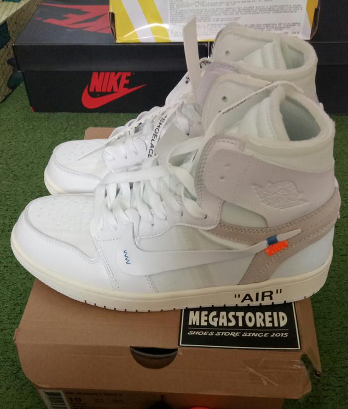 new concept c3d79 6d45a Jual Sepatu Nike Air Jordan 1 x Off White UA PK Perfect Quality - DKI  Jakarta - MEGASTOREID | Tokopedia