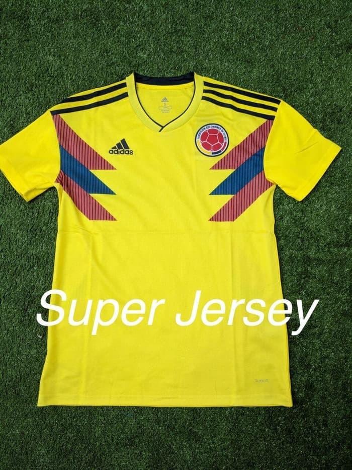 98e85a142 Jual Murah Jersey Colombia Home Grade ORI Kaos Bola World Cup Piala ...