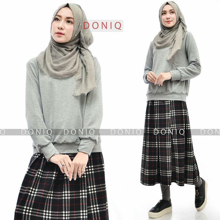 Jual Burberry Skirt Set Atasan Skirt Legging Wudhu Kota Malang Ramadhani Hijab Tokopedia