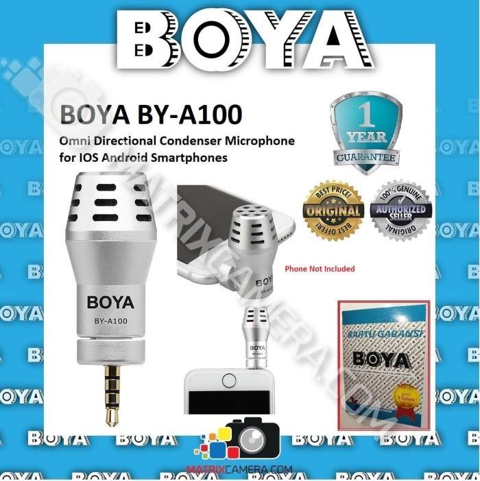Foto Produk BOYA BY-A100 Omni Directional Microphone for Smartphone (Silver) dari MatrixCamera