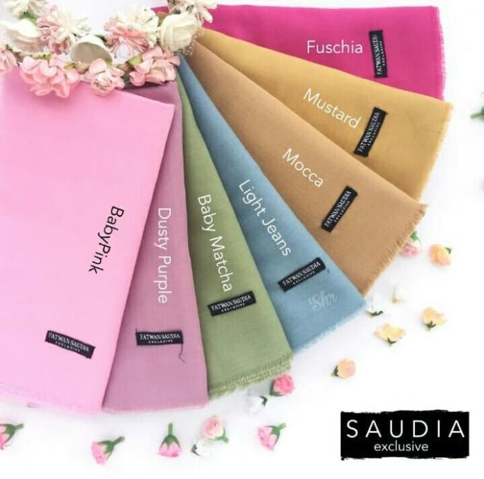 Foto Produk Kerudung Hijab Segi Empat Saudia Square Katun Rawis Exclusive dari Evan'z Fashion