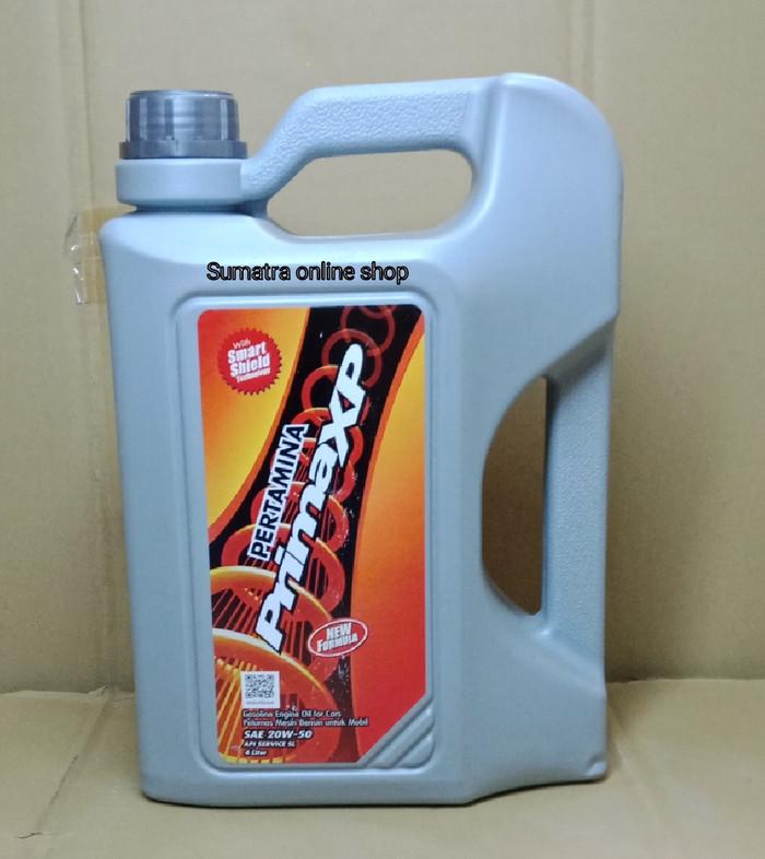 Oli pertamina mesin bensin prima xp sae 20w-50 (4 liter)