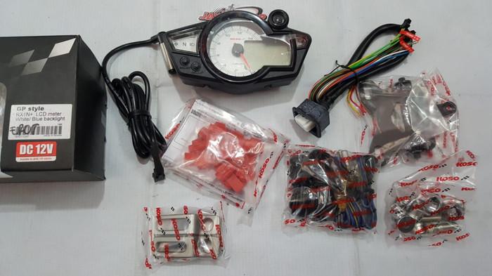 harga Speedometer digital koso rx1n+ lcd meter white blue backlight Tokopedia.com