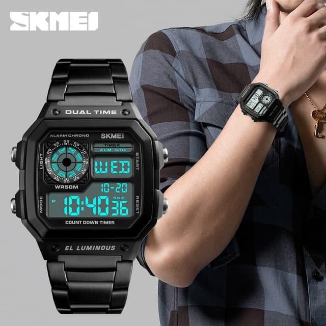 Jual Jam Tangan Pria Dual Time Skmei Casio Men Sport Original 1335 ... e3d1e5470d