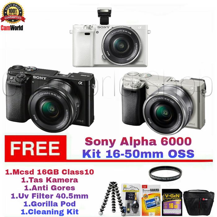harga Camera sony a6000 kit 16-50mm / paketan bonus Tokopedia.com