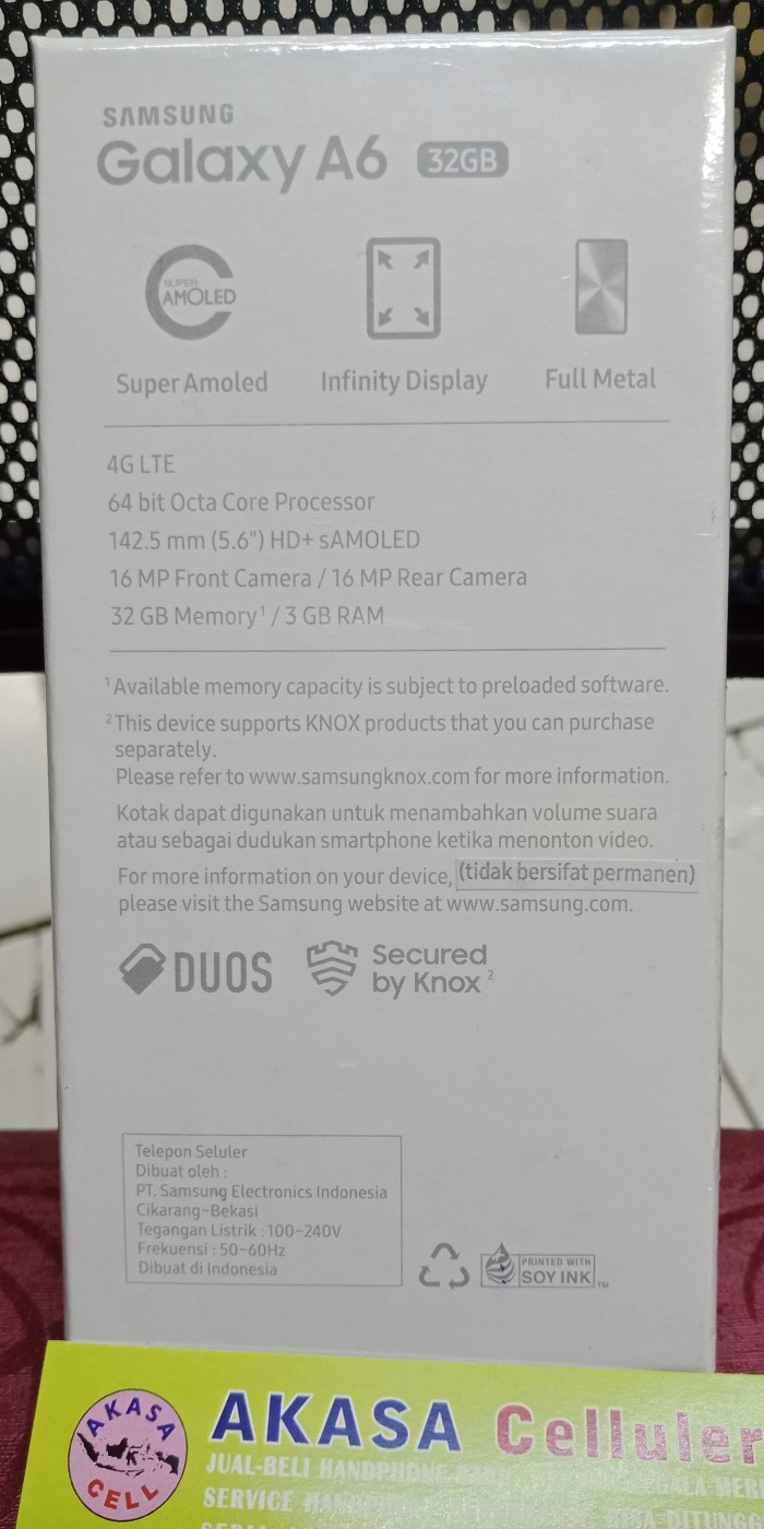 Jual Samsung Galaxy A6 2018 Garansi Resmi Sein Akasa Cell Tokopedia Plus