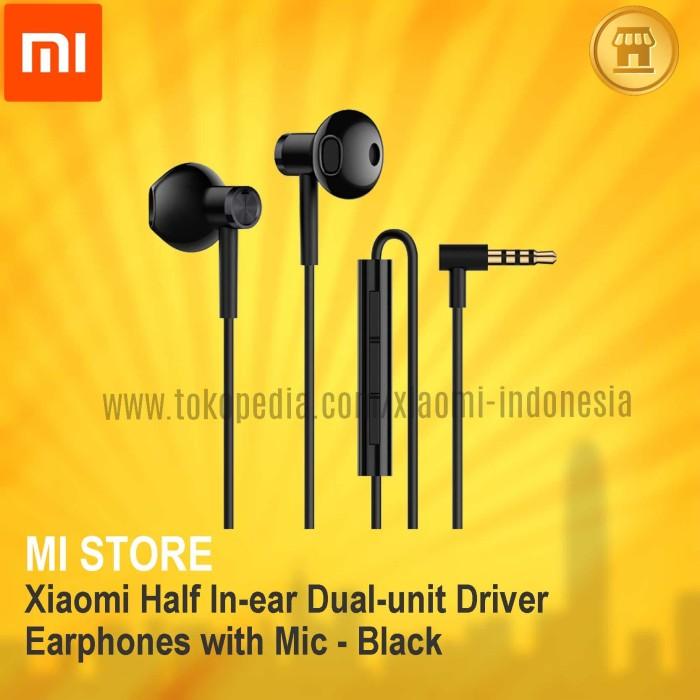 d053f11642d Jual Xiaomi Half In-ear Dual-unit Driver Earphones with Mic ...
