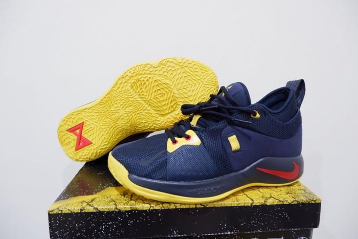 low priced 111c3 12c7e Jual Sepatu Basket PG 2 Paul George PG2 Navy Blue Yellow Biru Kuning - Kota  Batam - Elite Basketball Store | Tokopedia
