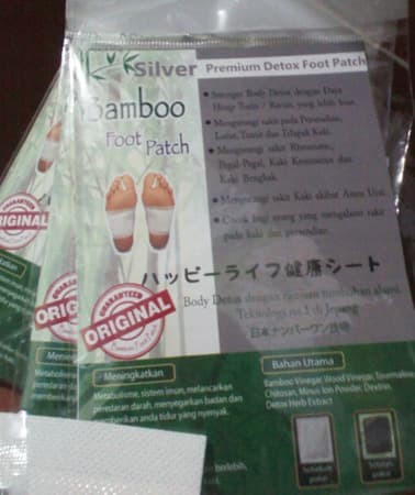 Koyo Bamboo SILVER Detox Foot Patch - Premium Quality (ASLI)