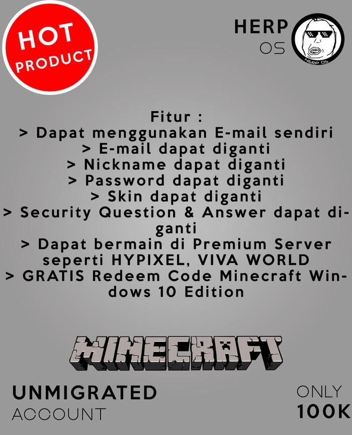Jual Minecraft Premium Account - Unmigrated Full Access - Kota Medan - Herp  Online Shop | Tokopedia