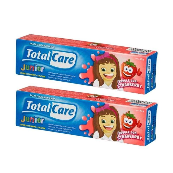 Junior Toothpaste Bubblegum Strawberry 50 g/ Isi 2