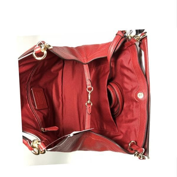 Jual Tas Coach Small Lexy Bag Pebble In Leather Dark Red F23537 ... 8d210874da635