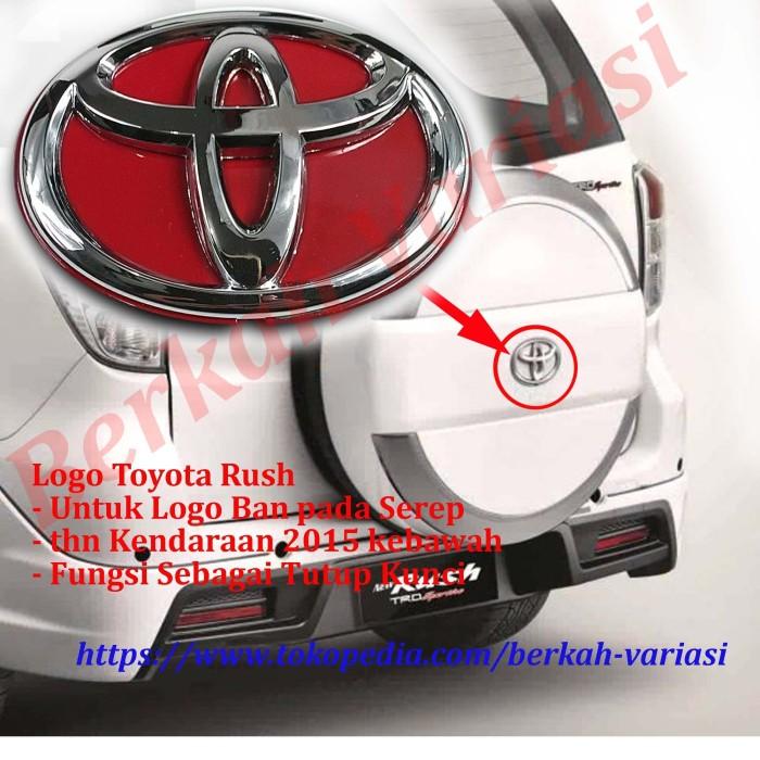 harga Emblem - logo tutup - cover belakang ban serep toyota rush - merah Tokopedia.