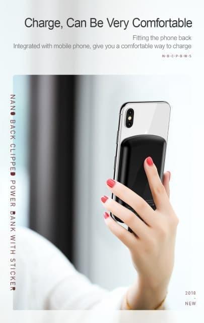 harga Usams cd54 mini nano back clipped powerbank 4000 mah original 100% Tokopedia.com