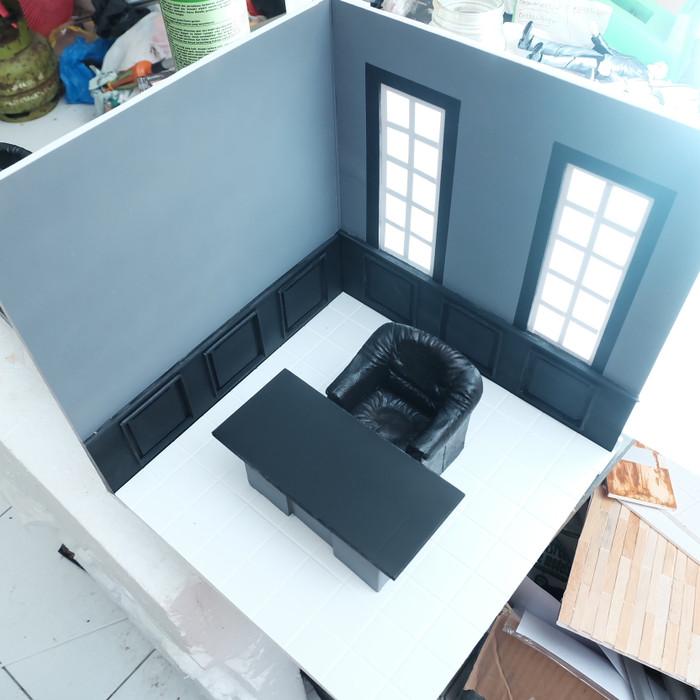 Jual Diorama Miniatur Boss Room Office Ruangan Kantor Bos Ranox