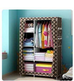 harga Lemari baju multifungsi rak baju portable lemari 2 pintu murah Tokopedia.com