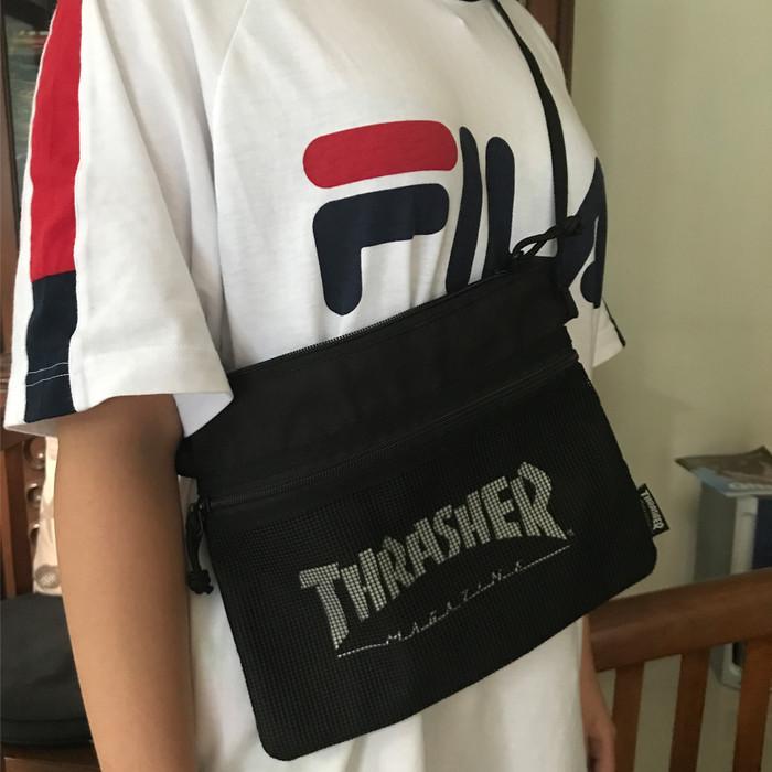 Thrasher Sling Bag in Black Canvas