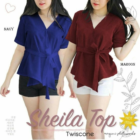 harga Sheila top - blouse fashion wanita - baju atasan - dress kekinian Tokopedia.com