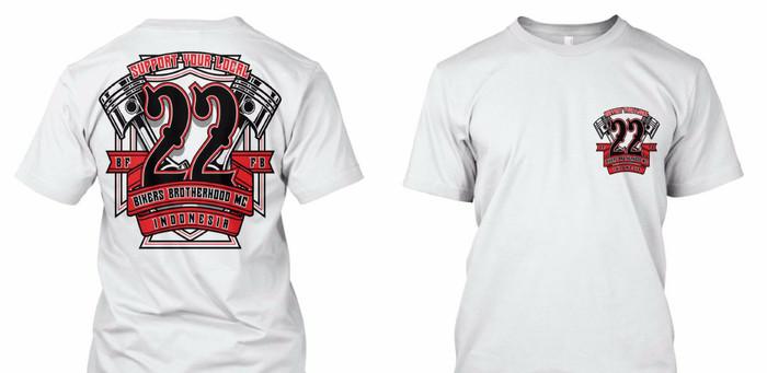 harga T shirth kaos bikers brotherhood mc anniversary 28 th Tokopedia.com