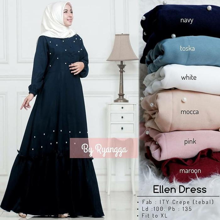 Jual Baju Muslim Wanita Aju Gamis Muslimah Ellen Maxy Dress Hot Kota Bandung Toko Online Terpercaya 1 Tokopedia
