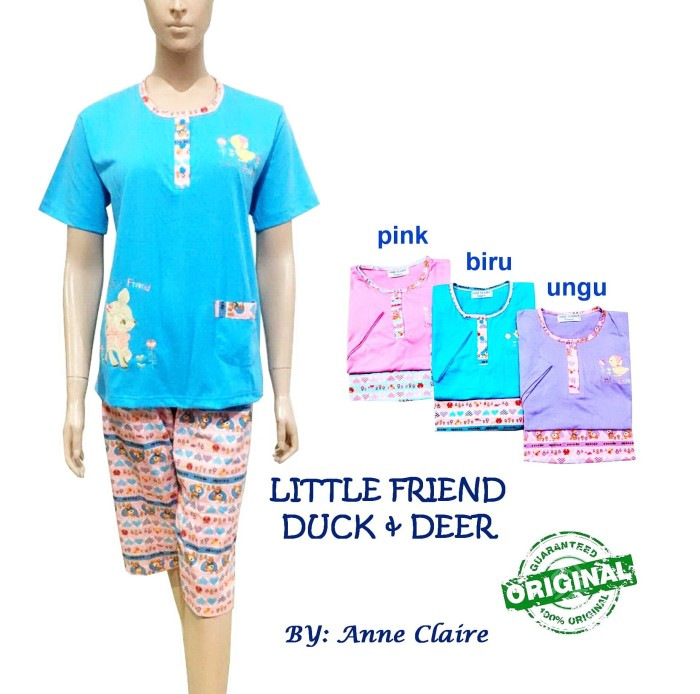 harga Lit friend duck & deer setelan/piyama / baju tidur merk anne claire Tokopedia.com