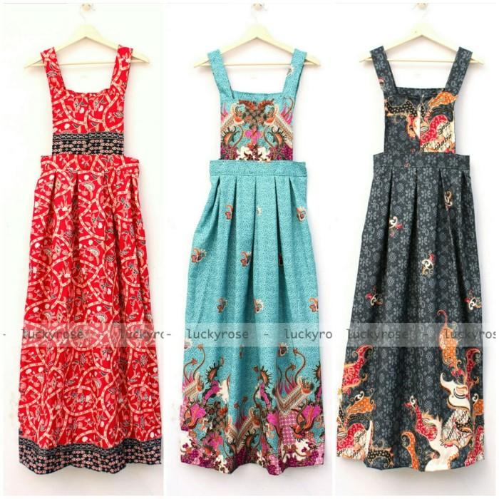 Jual Overall Batik Overall Rok Batik Jumpsuit Rok Baju Kodok Maxi Dress Kota Bandung Luckyrose Shop Tokopedia