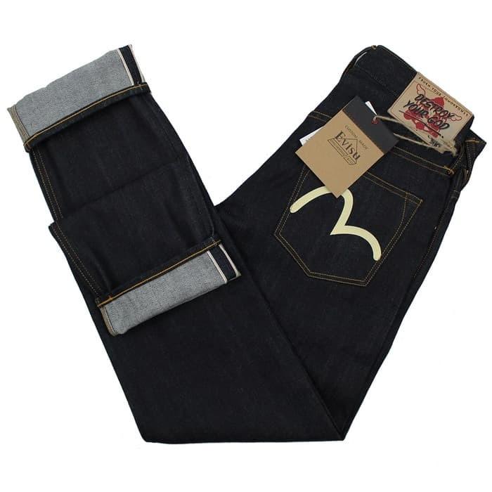 Evisu x d*face collaboration carrot cut denim selvedge jeans