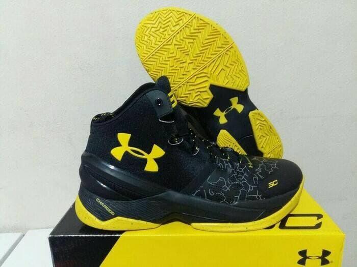94e828cff32a Jual sepatu basket under armour curry 2 black knight black yellow ...