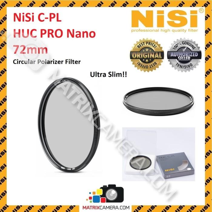 harga Nisi cpl / c-pl filter 72mm huc pro nano circular polarizer 72 mm Tokopedia.com