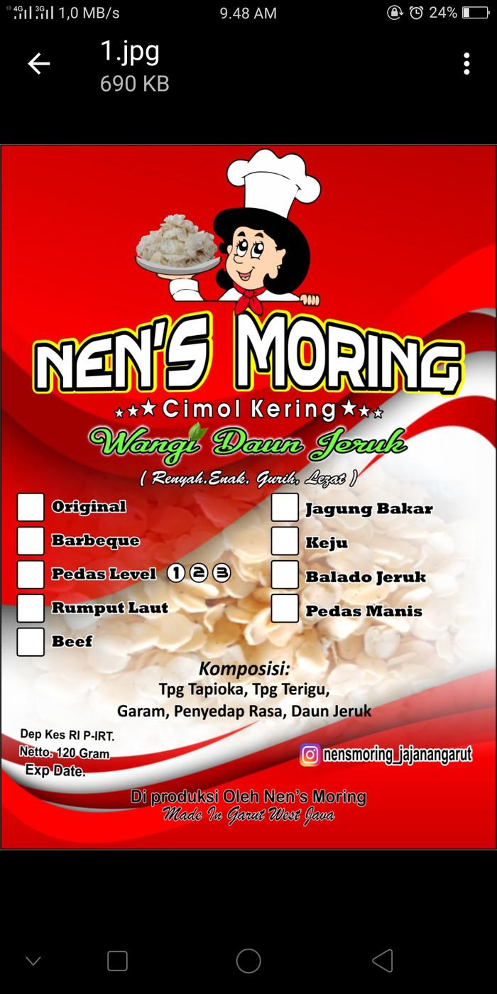 Jual Moring Snack Nensmoring Tokopedia Cimol Kering Original Ampamp Pedas