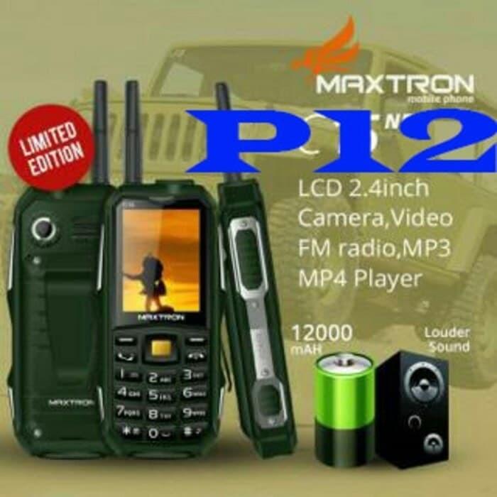 harga Maxtron p12 garansi resmi plus powerbank 12000mah senter radio dll Tokopedia.com