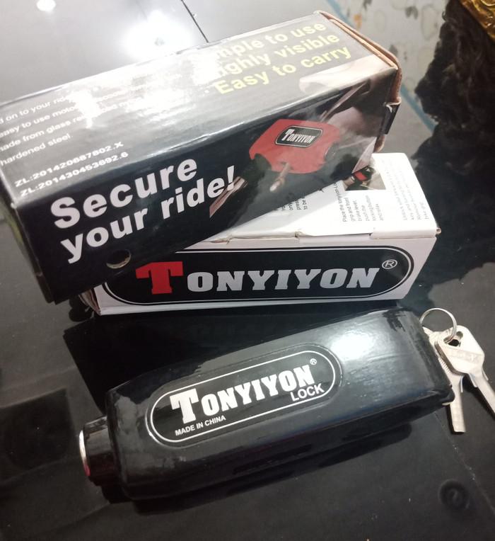 Griplock Kunci Stir Stang Sepeda Motor TONYIYON Grip Lock Bahan Besi - Hitam
