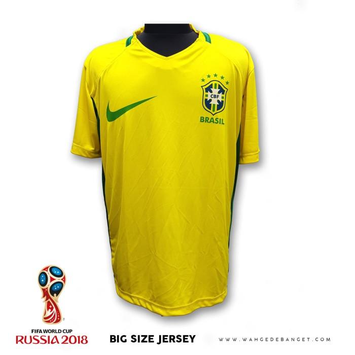 Jersey Brazil Jumbo Big Size Cowok Ukuran Besar XXL XXXL WGB
