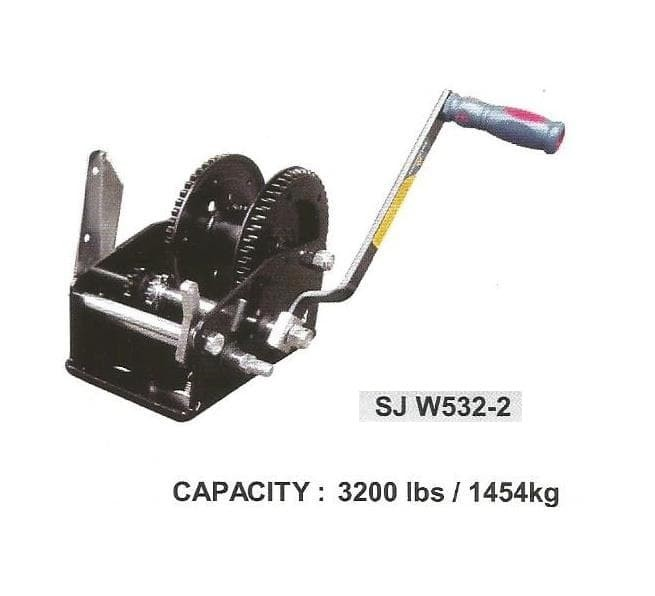 harga Hand winch double gear + brake kap.1454 kg sonjack Tokopedia.com