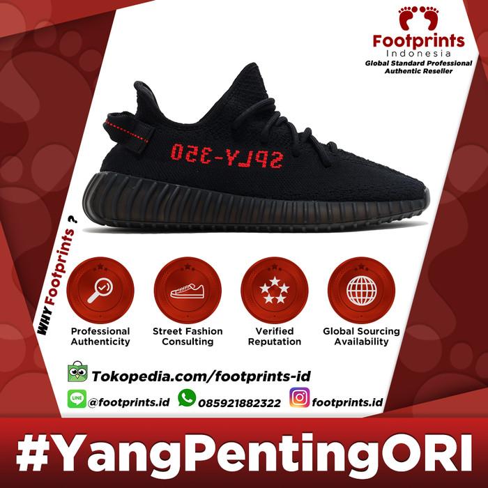 Adidas yeezy boost 350 v2 black red   bred (cp9652) 100% original harga ... 3ba676977d15