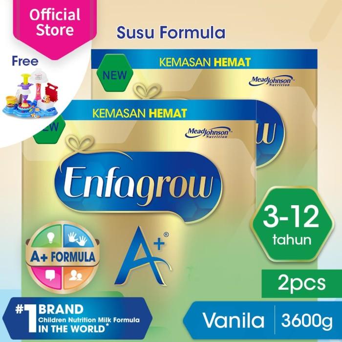 Enfagrow a+ 4 susu formula vanila 3600g free playdoh cake party