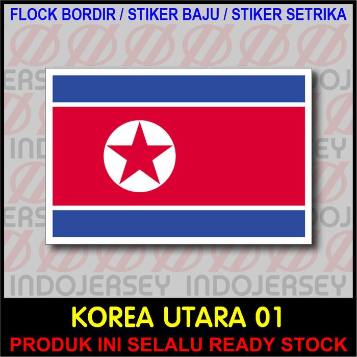 Jual Patch Badge Flock Bordir Bendera North Korea Utara 01