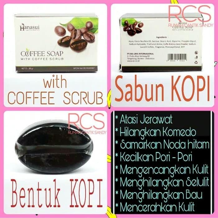 COFFEE SOAP/Sabun kopi /Coffe Scrub Hanasui/untuk jerawat,komedo BPOM
