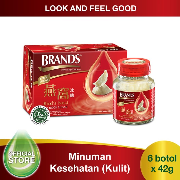 BRAND'S Bird's Nest 42 Gr with Rock Sugar (isi 6 botol) [FLASH SALE]