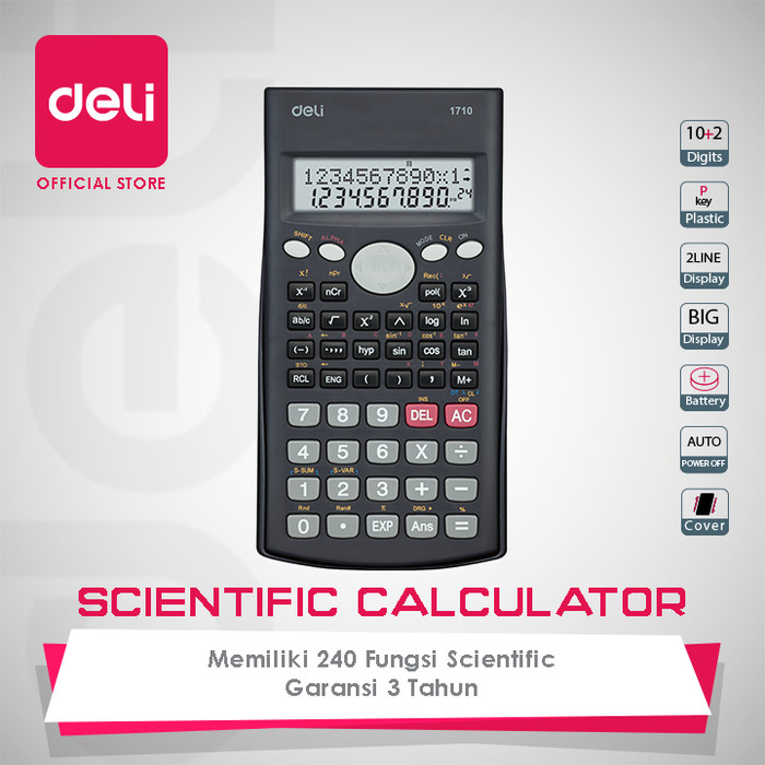 harga Deli 240f scientific calculator 10+2 digits [e1710a] - kalkulator scie Tokopedia.com