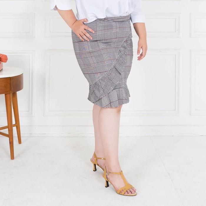 Fashion big size novia skirt - hitam 5xl