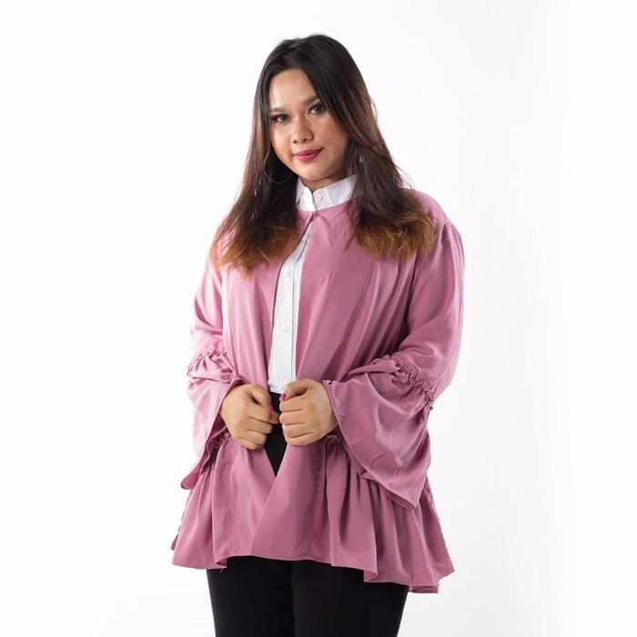 Fashion big size tatyana outer - ungu 4xl