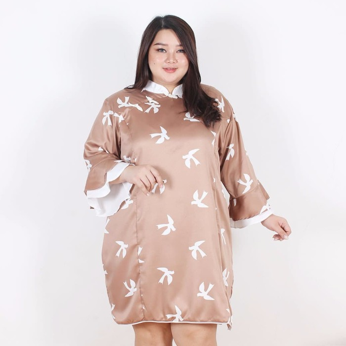harga Fashion big size lihua shanghai dress - cokelat tua 2xl Tokopedia.com