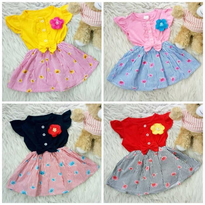 Foto Produk Dress bow lily flower baju bayi anak dari Glor shop